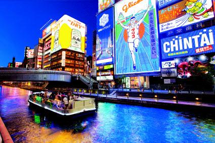 昨年、最も多くの韓国人が訪れた大阪の「観光一番地」道頓堀の全景。昨年の訪日韓国人は714万人で訪韓日本人231万より3倍ほど多い。(写真=日本政府観光局)