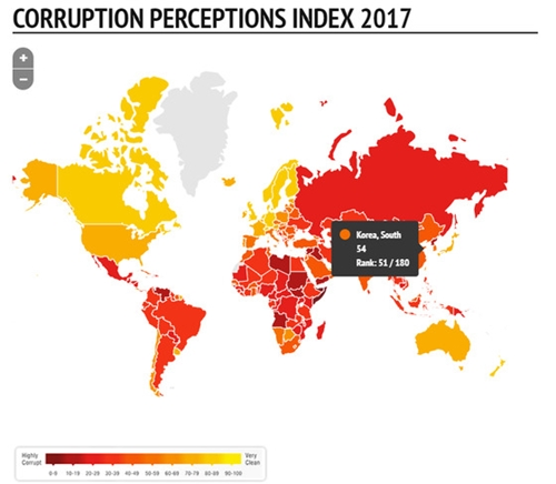 トランスペアレンシー・インターナショナル(Transparency International)のホームページ