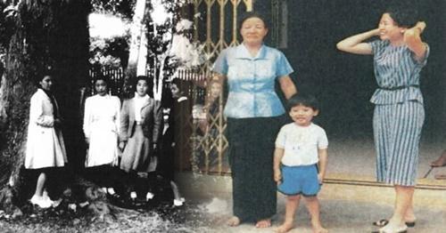 1945年10月、タイ・ウボンラーチャターニーで撮影された慰安婦女性写真。右はタイでノ・スボクさんの家族が運営していた喫茶店と家族。(写真=ソウル市)