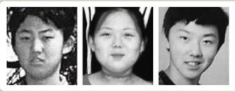 左からスイス留学時代の金正恩氏、金与正氏と推定される少女、「パク・チョル」という名前でアルバムに載っている金正哲(キム・ジョンチョル)氏。
