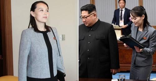 2月の訪韓当時の北朝鮮の金与正(キム・ヨジョン)労働党中央委第1副部長(左の写真)と先月の訪韓当時の姿(青瓦台写真記者団)
