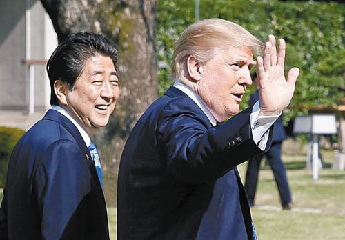 安倍晋三首相とドナルド・トランプ米大統領