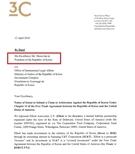 エリオットが先月韓国政府に提出したISD仲裁意向書。被請求人として大韓民国政府法務部とともに文在寅大統領が明示されている。(資料=法務部)