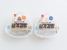 韓国コンビニCUからこの春登場したおにぎり型のパン「サムガッキムパン(プルコギ味・ツナマヨ味の2種類、各1、500ウォン)」。韓国語で「おにぎり」を意味する「サムガッキムパッ」にかけて名付けられています。