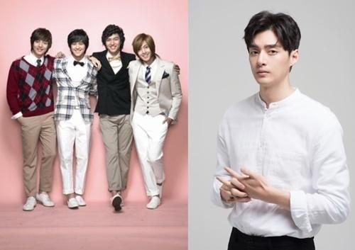 ドラマ『花より男子~Boys Over Flowers』のF4メンバー(写真左)、俳優のキム・ジュン