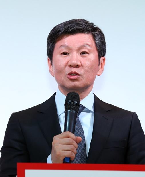 大韓サッカー協会の鄭夢奎(チョン・モンギュ)会長