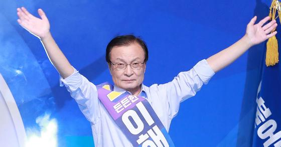 与党「共に民主党」の党代表に選出された李海チャン議員。