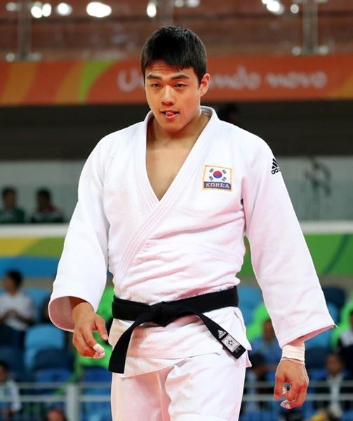韓国男子柔道の重量級看板選手クァク・ドンハン(写真=中央フォト)