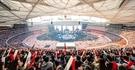 4万人以上の観衆が昨年11月に中国・北京のオリンピックメーンスタジアムで開かれたeスポーツ「リーグ・オブ・レジェンド・ワールド・チャンピオンシップ」決勝戦を見守っている。(写真=ライオットゲームズ)