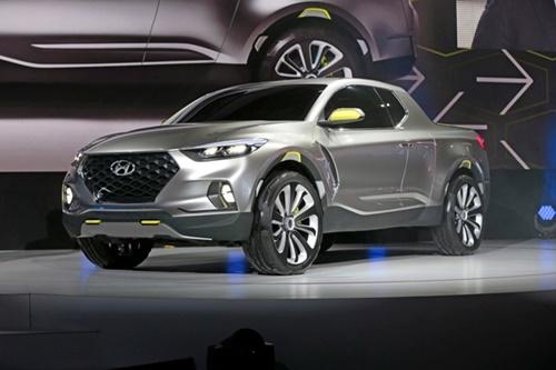現代車が2015年に発表したピックアップトラックのコンセプトカー「サンタクルーズ」(写真=現代車)