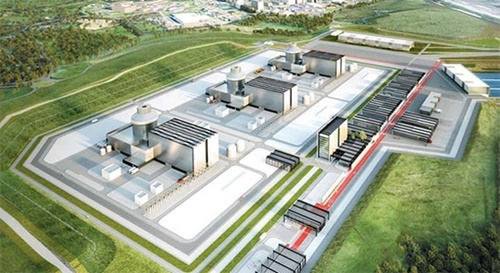 英国リバプール北部のムーアサイド地区に3基の原発を作るムーアサイドプロジェクトの鳥瞰図。2009年アラブ首長国連邦(UAE)に続いて韓国2番目となる原発輸出だ。(写真提供=ニュージェネレーション)