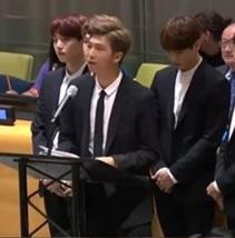 防弾少年団RM、世界を感動させた国連演説 「自分の声をあげて」