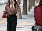 今年流行のレオパード柄を取り入れたファッションも多く見られました。