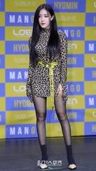 12日午後、ソウル清潭洞一指アートホールで新しいソロアルバム『MANGO』の発売記念メディアショーケースに登場した歌手ヒョミン