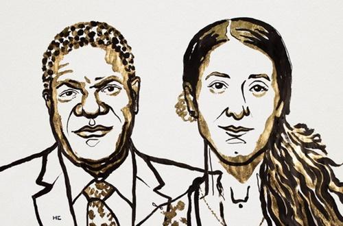 ノルウェー・ノーベル委員会が5日(現地時間)、コンゴ民主共和国の性暴行被害女性を助けた医師デニ・ムクウェゲ氏とスンニ派極端主義武装組織「イスラム国家」(IS)の性暴力蛮行を告発した女性活動家ナディア・ムラド氏を2018年ノーベル平和賞受賞者に選定した。(ノーベル委員会ホームページ)