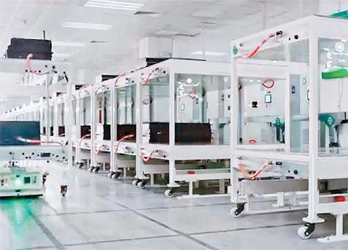 昨年上半期まで中国3位の電気自動車バッテリー製造企業だったオプティマムナノエナジーが資金難となり、年末まで生産ラインの稼働を中断することにした。写真はオプティマムナノエナジーのバッテリー製造工場。(写真=ホームページのキャプチャー)