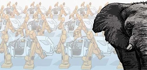 【取材日記】韓国自動車工場をかき乱す黒いゾウ