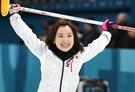 平昌五輪日本女子カーリング代表スキップの藤澤五月。(写真=中央フォト)