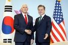 米国「文-ペンス会談、南北協力と制裁履行も協議」