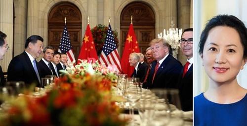 カナダ司法当局が米国側の要請で中国通信装備企業、華為技術の孟晩舟副会長兼CFO(右)を逮捕した。孟CFOは創業者・任正非会長の娘。(中央フォト)