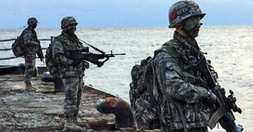 海軍特戦大隊(UDT/SEAL)および海警特攻隊隊員による2013年の独島防御訓練。(写真=海軍)