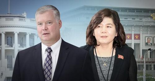 ビーガン米対北朝鮮政策特別代表(写真左)と崔善姫北朝鮮外務省副相の会談は未だ唯の一度も行われていない。