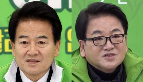 韓国民主平和党の鄭東泳代表の二重まぶたの整形前(左)と後(右)の様子