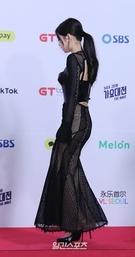 25日午後、ソウル高尺スカイドームで開かれた「SBS 2018歌謡大祭典The WAVE」のレッドカーペットイベントに登場したBLACKPINKのジェニー