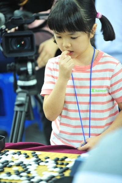 日本最年少でプロ棋士となった仲邑菫さん(写真=韓国棋院)