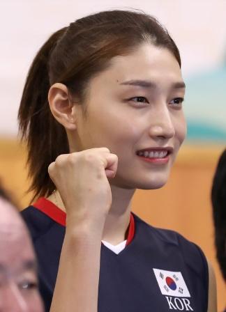 韓国女子バレーボールの金軟景選手