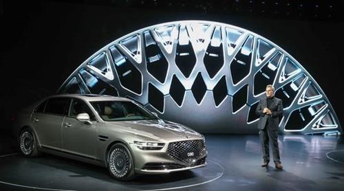 現代車の高級車ブランド・ジェネシスのラグジュアリーフラッグシップ・セダン「G90」(写真=現代車)