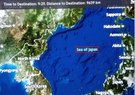 航空会社提供の地図(写真=徐敬徳教授のフェイスブック)