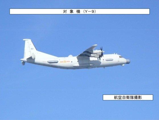 2018年8月、韓国防空識別圏に入った中国のY-9JB(写真=日本防衛省)