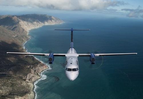 KAIがライセンス生産を検討しているQ400モデル。(写真=ボンバルディア)