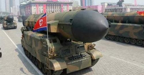 北朝鮮の潜水艦発射弾道ミサイル「北極星1号」の地上発射型「北極星2号」(写真=中央フォト)