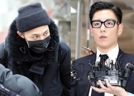 BIGBANGのG-DRAGON(左)とT.O.P(右)