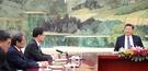 2018年3月12日、鄭義溶(チョン・ウィヨン)国家安保室長が文在寅(ムン・ジェイン)大統領の特使として訪中し、中国の習近平主席に会っている。(北京共同取材団)