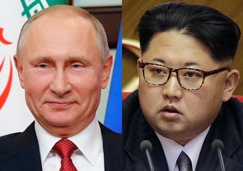ロシアのプーチン大統領と北朝鮮の金正恩国務委員長(写真=中央フォト)