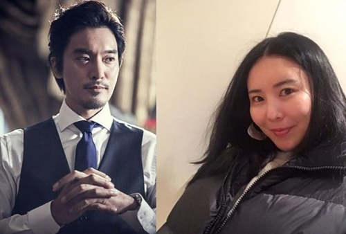 俳優キム・ミンジュン(左)とG-DRAGONの実姉でファッション事業家のクォン・ダミさん。