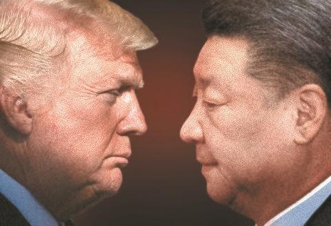 米国のトランプ大統領と中国の習近平国家主席
