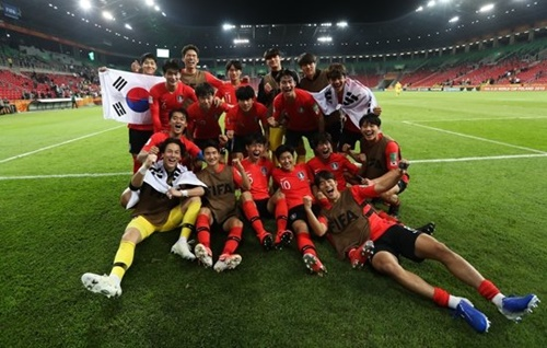 U-20W杯の決勝トーナメント初戦で5日に日本と対戦するU-20韓国代表(写真=大韓サッカー協会提供)