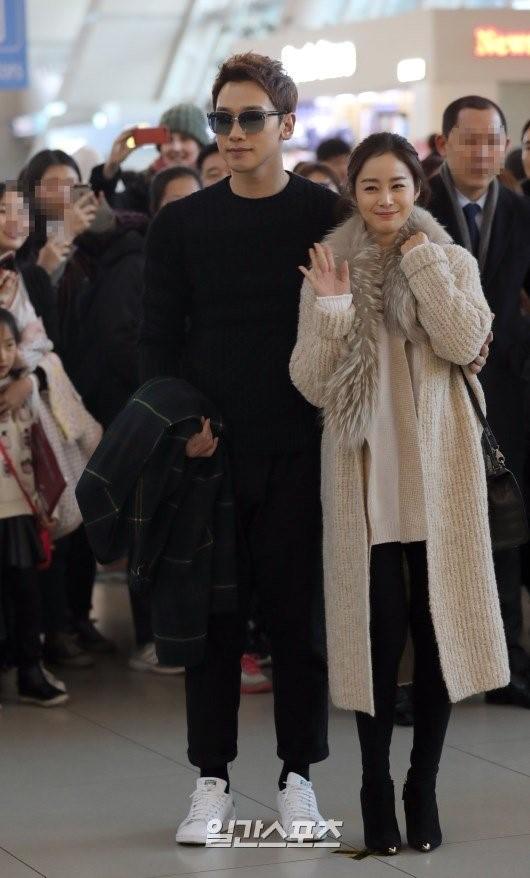 歌手Rainと女優キム・テヒ