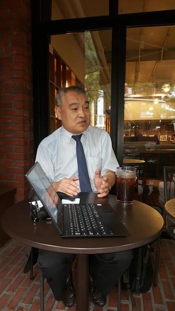 18日午後、ソウル市内のカフェで会った植村隆氏。(写真提供=自由言論実践財団)