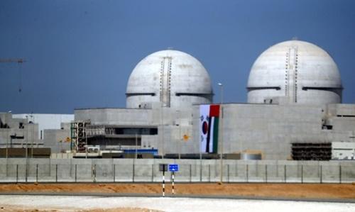 UAEアブダビから西に270キロ離れたバラカ原発の工事現場(写真=青瓦台写真記者団)