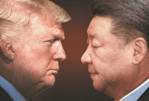 米国のドナルド・トランプ大統領と中国の習近平国家主席