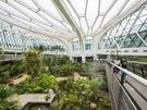 「テーマ園」の一部である温室には、熱帯・地中海12都市の植物を身近に鑑賞できます。温室全体を俯瞰できる「スカイウォーク」からは、地上とはまた違った風景を楽しむことも。