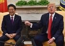 昨年、ホワイトハウスで首脳会談を行った安倍首相とドナルド大統領(写真=中央フォト)
