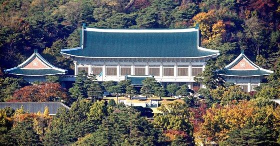 韓国の青瓦台(チョンワデ、大統領府)