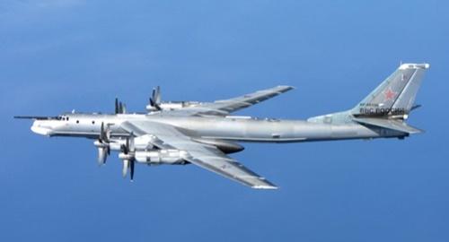 ロシア戦略爆撃機Tu-95。