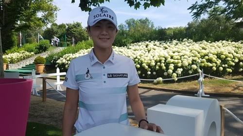 22日、エビアン選手権の現場で会ったパク・ソンヒョン。 キム・ジハン記者